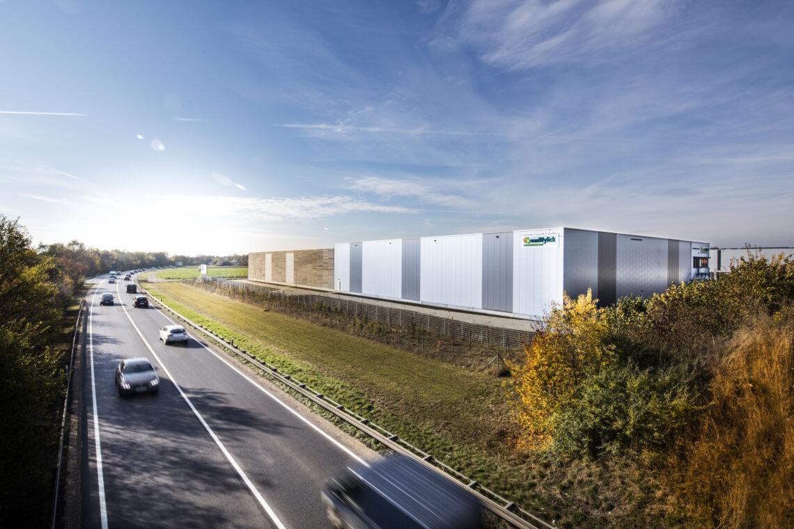Gebäude des neuen Reife- und Distribitionszentrum in Olching bei München